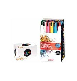 Posca Uni-ball Paint Marker op waterbasis PC-1MR, 16st in div. kl.