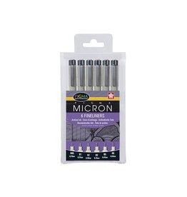 Sakura Sakura Fineliner Pigma Micron zwart 6 stuks