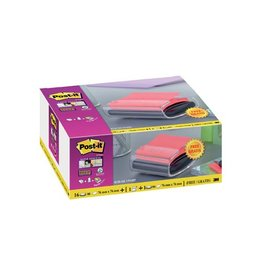 Post-it Post it Super Sticky Z-notes, roze, 76x76mm+GRATIS dispenser