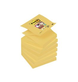 Post-it Post-it Super Sticky Z-Notes, 76 x76mm, geel, blok van 90vel
