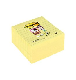Post-it Post-it Super Sticky Z Notes, geel, 101x101mm, gelijnd, 90bl