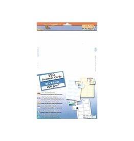 Decadry Decadry visitekaarten MicroLine 85x54mm,200g/m²,150 kaartjes