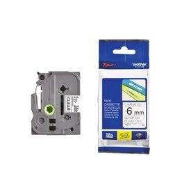 Brother Brother TZe tape voor P-Touch 6 mm, zwart op transparant