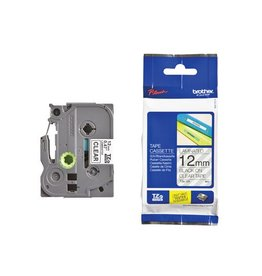 Brother Brother TZe tape voor P-Touch 12 mm, zwart op transparant