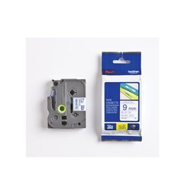 Brother Brother TZe tape voor P-Touch 9 mm, blauw op wit
