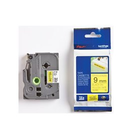 Brother Brother TZe tape voor P-Touch 9mm zw. op geel extra klevend