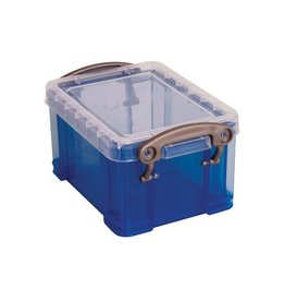 Really Useful Box Really Useful Box visitekaarthouder 0,3 liter, transp blauw