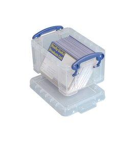 Really Useful Box Really Useful Box visitekaarthouder 0,3 liter, transparant