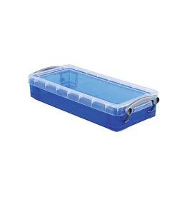 Really Useful Box Really Useful Box pennenbakje 0,55 liter, transparant blauw