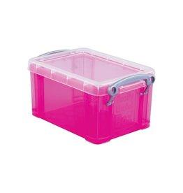 Really Useful Box Really Useful Box 0,7 liter, transparant helroze