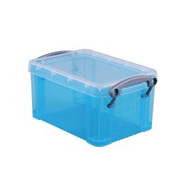 Really Useful Box Really Useful Box 0,7 liter, transparant helblauw