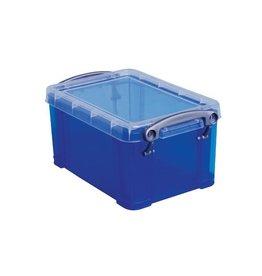 Really Useful Box Really Useful Box 0,7 liter, transparant blauw