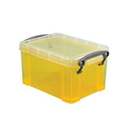 Really Useful Box Really Useful Box 0,7 liter, transparant geel