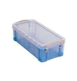 Really Useful Box Really Useful Box 0,9 liter, transparant blauw