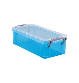 Really Useful Box Really Useful Box 0,9 liter, transparant helblauw