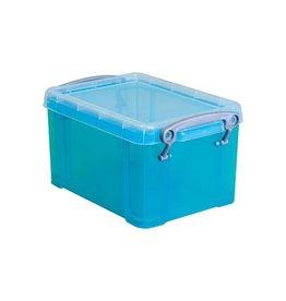 Really Useful Box Really Useful Box 1,6 liter, transparant helblauw