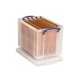 Really Useful Box Really Useful Box 19 liter hangmappenkoffer, transparant