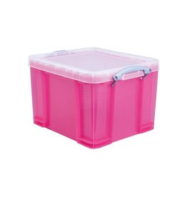 Really Useful Box Really Useful Box 35 liter, transparant, helroze [6st]