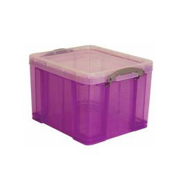 Really Useful Box Really Useful Box 35 liter, transparant paars [6st]