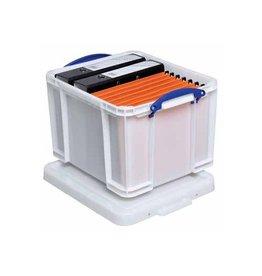 Really Useful Box Really Useful Box opbergdoos 35l wit blauwe handvaten [6st]
