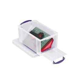 Really Useful Box Really Useful Box 8 liter met opening aan de voorkant,transp