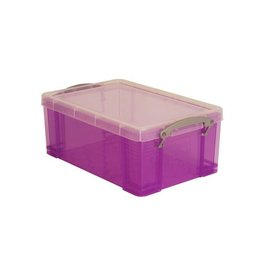 Really Useful Box Really Useful Box 9 liter, transparant paars