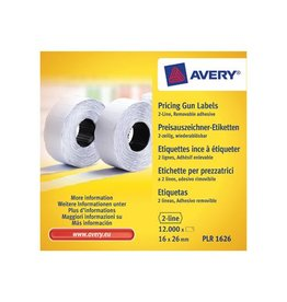 Avery Avery etiketten voor prijstang non-permanent