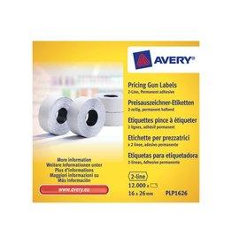 Avery Avery etiketten voor prijstang permanent