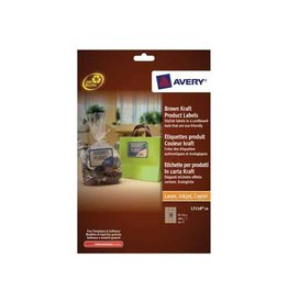 Avery Avery L7110-20 productetiketten 62x42mm 360 etiketten kraft