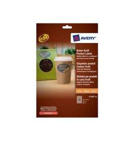 Avery Avery L7103-20 productetik 63,5x42,3mm 360 etik kraft ovaal