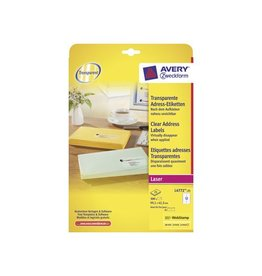 Avery Avery transp.e etiketten QuickPEEL 99,1x42,3mm 300st 12/blad