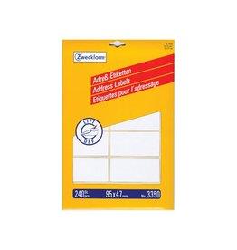 Avery Avery Adresetiketten 95x47mm(bxh),wit,doos van 240 etiketten