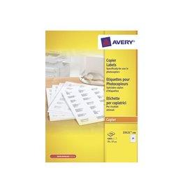Avery Avery 23521-200 kopieeretiketten 70x37mm 4800 etiketten wit