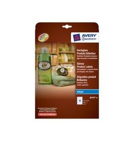 Avery Avery J8102-10 productetik. 63,5x42,3mm gecoat 180 etik. wit