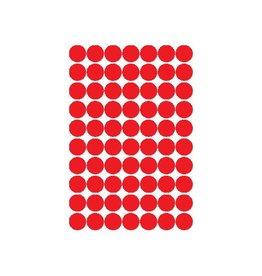 Apli Apli ronde etiketten in etui 19mm, rood, 560st, 70 per blad