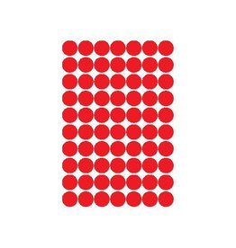 Apli Apli ronde etiketten in etui diameter 19 mm, rood