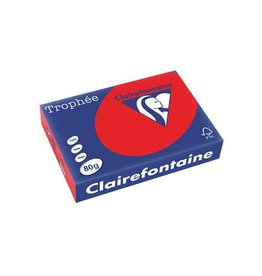Clairefontaine Papier Clairefontaine Trophée Intens A4, 80 g, 500 vel, koraalrood