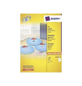 Avery Avery L7676-100 CD etiketten, 117mm, 200 etiketten, wit