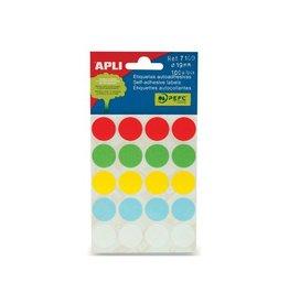 Apli Apli ronde etik. in etui 19mm assorti 100st 20/blad (7109)