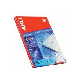 Apli Apli Witte etiketten 64x33,9mm (bxh) 2.400st 24/blad (2409)