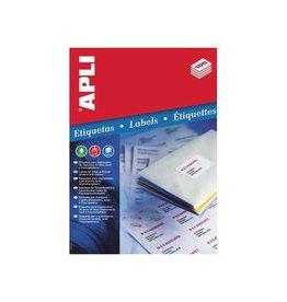 Apli Apli etiketten 63,5x38,1mm ronde hoeken 525st 21/blad (1992)
