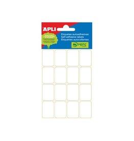 Apli Apli witte etiketten 19x27mm (bxh), 96st, 16 per blad (2675)