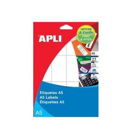 Apli Apli witte etik. Print & Write 25x40 mm 375st, 25 per bl