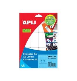 Apli Apli witte etik. Print & Write 8x12 mm 3.375st, 225 per bl