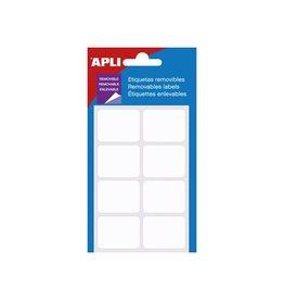 Apli Apli afneembare witte etiketten ft 25 x 40 mm (b x h) [10st]