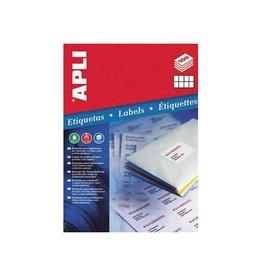 Apli Apli witte etiketten 105x70mm (bxh),800st,8 per blad (1292)