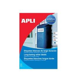 Apli Apli weerbestendige etik. 210x297 mm 20st, 1 per bl, 20 bl