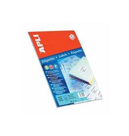 Apli Apli etiketten 105x37mm rechte hoeken 400st 16/blad (1214)