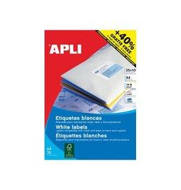 Apli Apli etiketten 70x37mm rechte hoeken 600st 24/blad (1212)
