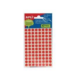 Apli Apli ronde etiketten in etui 8mm rood 288st 96/blad (2046)